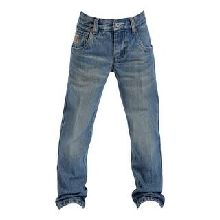 Cinch Western Denim Jeans Boys Tanner Adjustable Dark Wash MB16982002