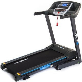 Goplus 2.25HP Folding Electric Treadmill Motorized Power Running Machine Fitness - as pic