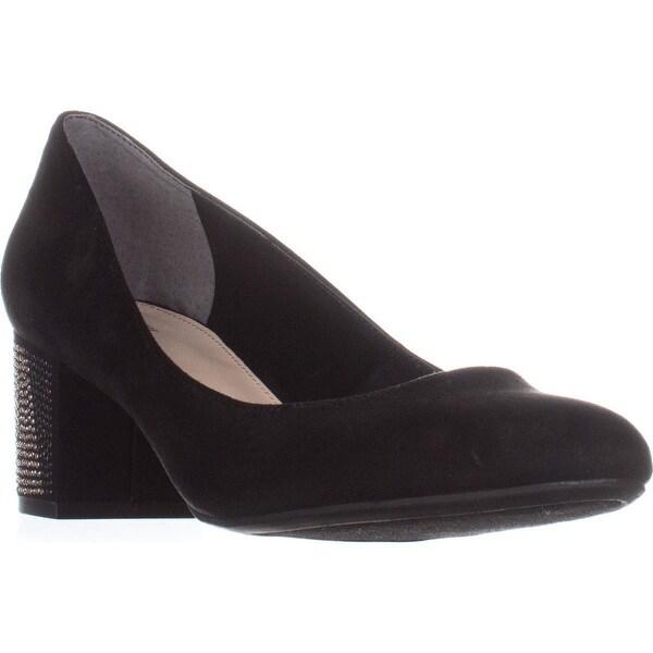B35 Petunia Calissic Kitten Heel Pumps, Black Glitz - 9.5 us