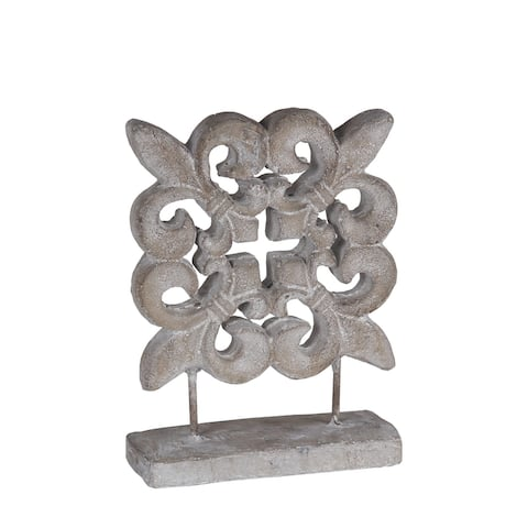 Medium Fleur De Lis Ceramic Table Decor