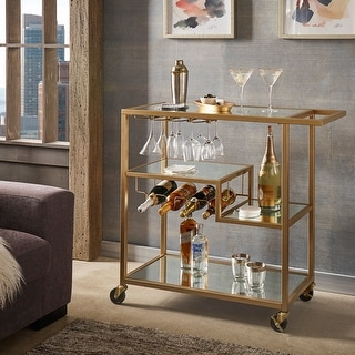 Link to Metropolitan Mirrored Glass Top Metal Bar Cart by iNSPIRE Q Bold Similar Items in Home Bars