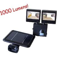 KANSTAR Outdoor 1000 Lumens Solar Dual Head Motion Sensor Security Flood Light (Black)