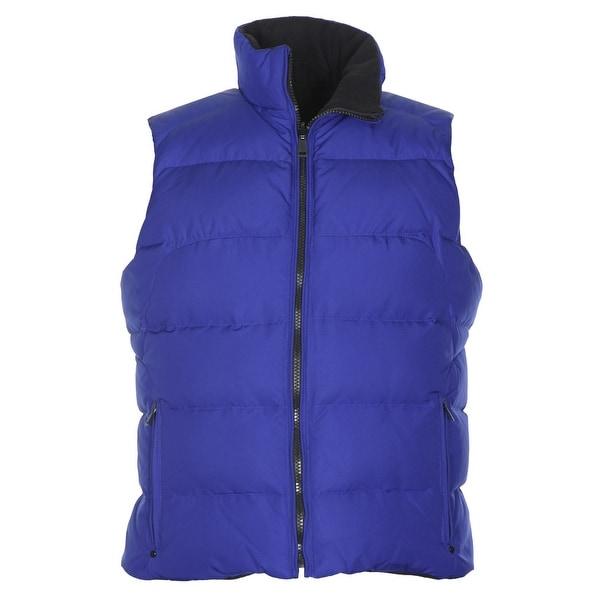 Ralph Lauren Active Womens Reversible Down Fill Puffer Vest Blue Small S