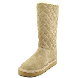 Michael Michael Kors Sandy Quilted Boot Round Toe Winter Boot