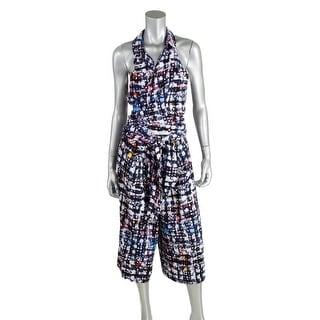 Robert Rodriguez Womens Chiffon Pattern Jumpsuit - 4