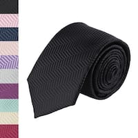 Jacob Alexander Men's Tone on Tone Herringbone Regular Neck Tie - One Size