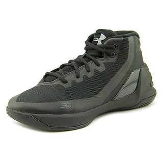 Under Armour PS Curry 3 Youth EW Round Toe Synthetic Black Basketball Shoe