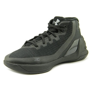 Under Armour PS Curry 3 Youth  Round Toe Synthetic Black Basketball Shoe