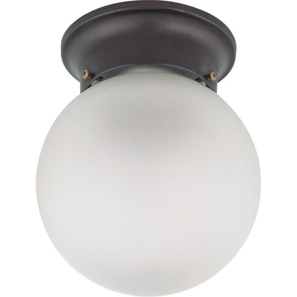 "Nuvo Lighting 60/3154 Single Light 6"" Wide Flush Mount Ceiling Fixture - Mahogany Bronze"