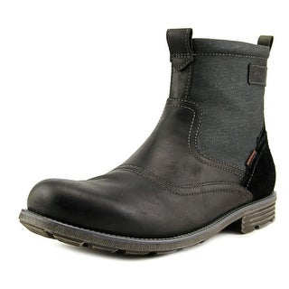 Clarks Narrative Guard Top Men Round Toe Leather Black Work Boot