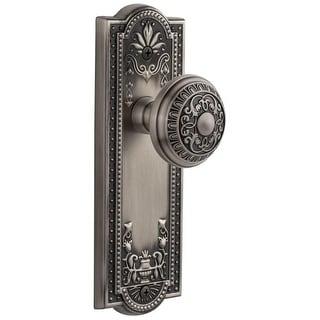 "Grandeur PARWIN_PSG_238  Parthenon Solid Brass Rose Passage Door Knob Set with Windsor Door Knob Set and 2-3/8"" Backset"