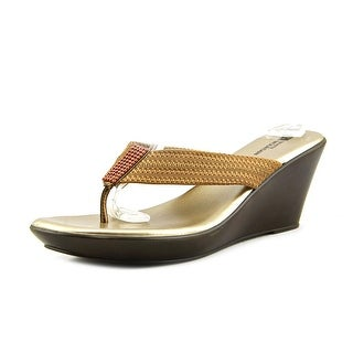 White Mountain Ray Open Toe Canvas Wedge Sandal
