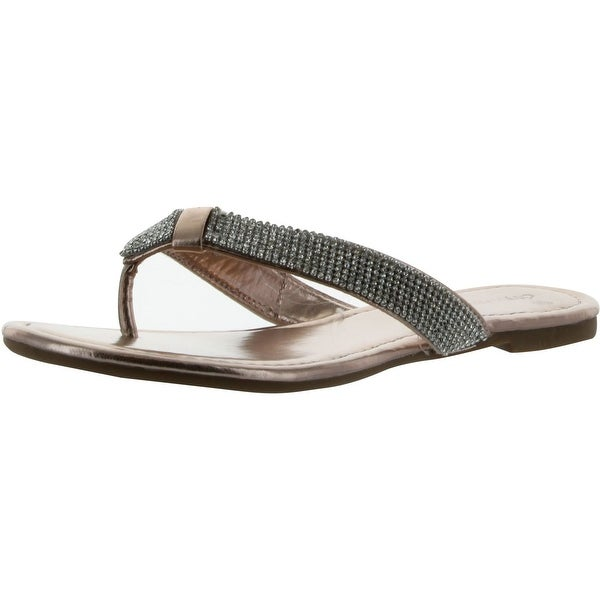 City Classified Womens Poppy Fashion Flip Flop Sandals
