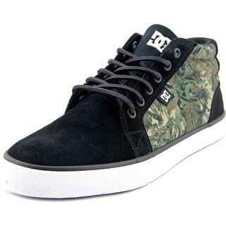 DC Shoes Council Mid SE Men Round Toe Suede Black Skate Shoe