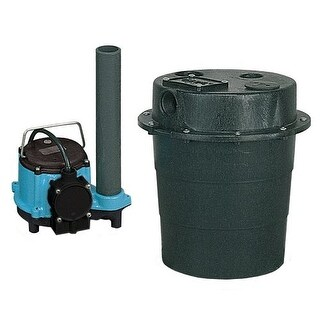 Little Giant 506055 WRS-6 Drainosaur 1/3 HP Sink/Drain Pump System with Diaphragm Switch