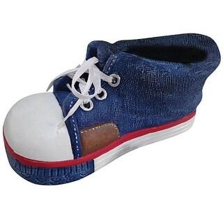 Alpine QFC156BL Sneaker Planter, Blue, Polyresin