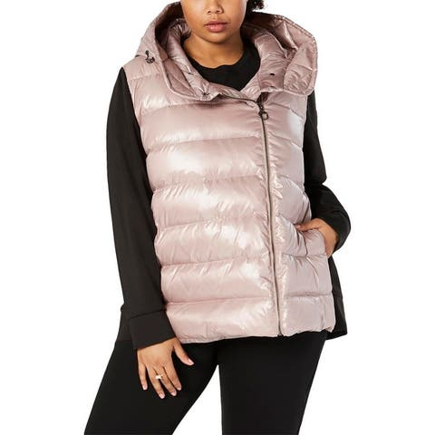 Calvin Klein Performance Womens Plus Quilted Coat Winter Down