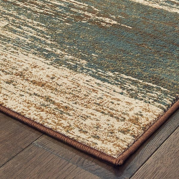 Strick Bolton Gilmore Blue Brown Abstract Area Rug Overstock 28041688