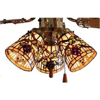 "Meyda Tiffany 67013 4"" W Jeweled Grape Fan Light Shade"