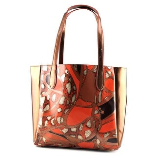 Buco Mosaic Patent Leather Tote Women Synthetic Tote - Multi-Color