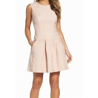 BCBG Generation NEW Pink Womens Size Medium M Jacquard A-Line Dress