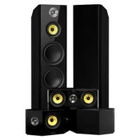 Signature Series Surround Sound Home Theater 5.0 Channel Speaker System with Bipolar Speakers - Black Ash (HF50BB)