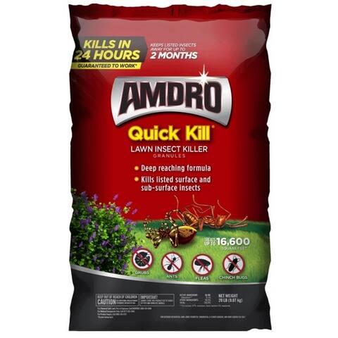Amdro 100525629 Quick Kill Lawn Insect Killer, 20 lbs