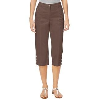 Karen Scott Womens Petites Capri Pants Tummy Control Slimming Waist - 14P
