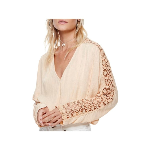 Free People Womens Runaway Crop Top Crochet