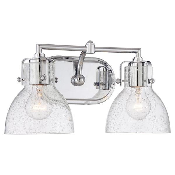 "Minka Lavery 5722 2 Light 15.5"" Width Bathroom Vanity Light from the Seeded Bath Art Collection - Chrome"