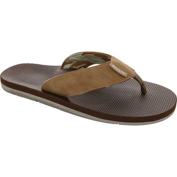 2e09ec74880ae Shop Scott Hawaii Men s Kaulana Flip Flop Tan Polyurethane Leather - On  Sale - Free Shipping On Orders Over  45 - Overstock - 19880154