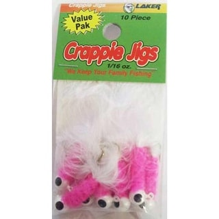 Eagle Claw Laker Maribou Jig 1/16 10ct White/Pink/White