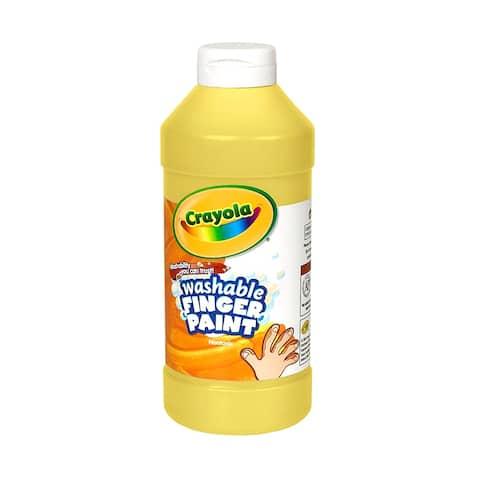 Washable Fingerpaint 16Oz Yellow