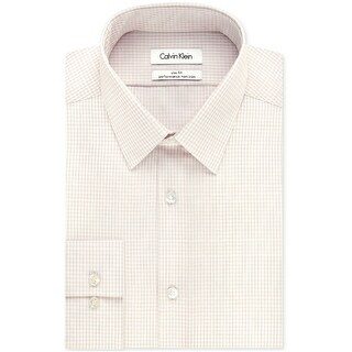"""Link to Calvin Klein Mens Steel Slim-Fit Button Up Dress Shirt, grey, 14"""" Neck 32""""-33"""" Sleeve - 14"""" Neck 32""""-33"""" Sleeve Similar Items in Shirts"""