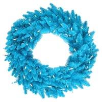 """30"""" Sky Blue Fir Wreath 260T"""