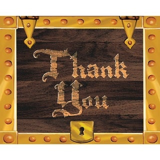 Thank Yous Card And Envelopes 8 Pack Buried Treasure - multi