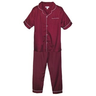 Ten West Apparel Men's Tall Short Sleeve Long Leg Pajamas
