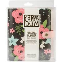 Carpe Diem Personal Planner-Black Blossom