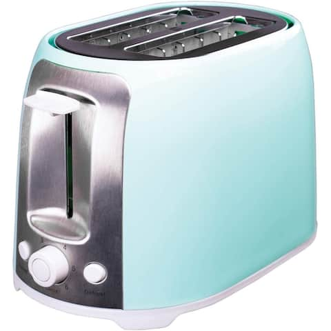 Brentwood TS-292BL Cool Touch Blue 2-Slice Extra Wide Slot Toaster