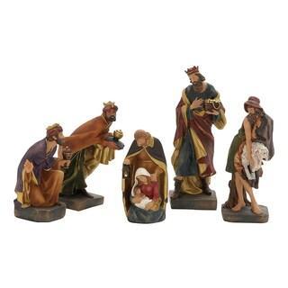 Woodland Imports Set of 5 Spectacular Nativity Scene