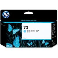 HP 70 130-ml Light Cyan DesignJet Ink Cartridge (C9390A) (Single Pack)
