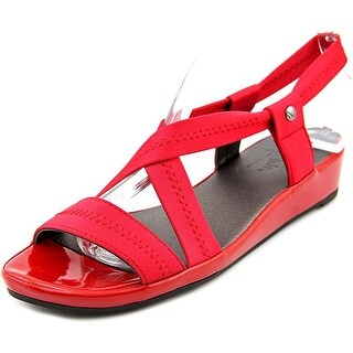 Life Stride Debutante Women Open Toe Canvas Wedge Sandal