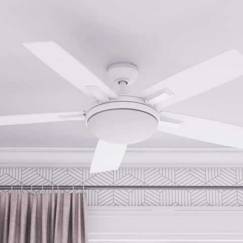 Copper Grove Garff 52-inch White LED Ceiling Fan with Remote