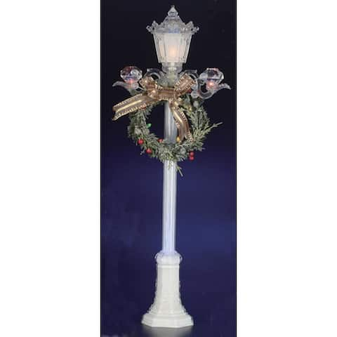"""Pack of 2 Icy Crystal Illuminated Decorative Christmas Street Lamps 24"""""""