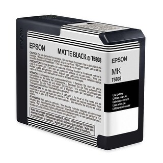Epson T5808 UltraChrome K3 Matte Black Cartridge Ink - pigment matte black