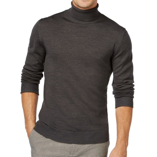 e0c626b3fb2 Shop Vince Camuto NEW Charcoal Gray Mens Size XL Ribbed Turtleneck Sweater  - Free Shipping On Orders Over  45 - Overstock - 19550536