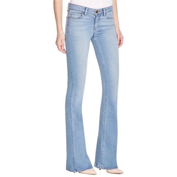 Shop Paige Womens Lou Lou Flare Jeans Denim Petite Fit Free