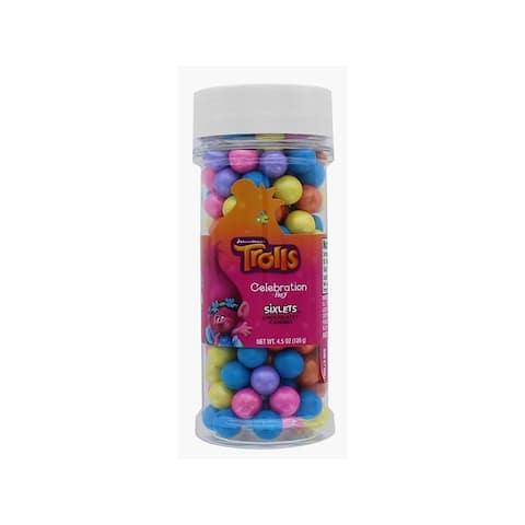 94361 sweetworks sixlets celebration 4 5oz troll mix