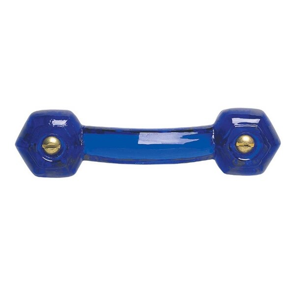 Cobalt Glass Drawer Pull Cabinet Handle 3 Boring  | Renovator's Supply