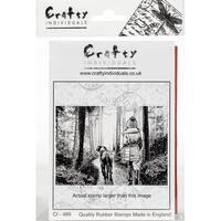"Crafty Individuals Unmounted Rubber Stamp 3.5""X5"" Pkg-Winter Walkies"